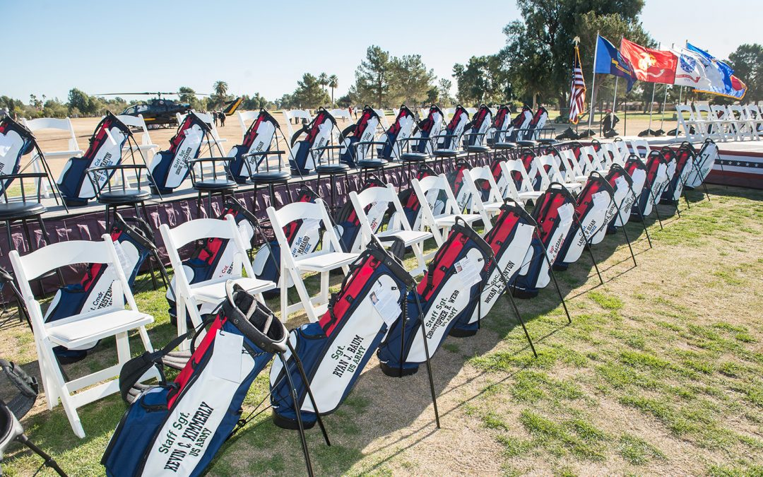 Golfers and Golf Bags Honor Fallen Soldiers